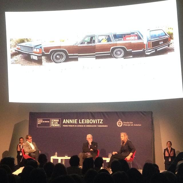 Annie Leibovitz en el Niemeyer de Avilés
